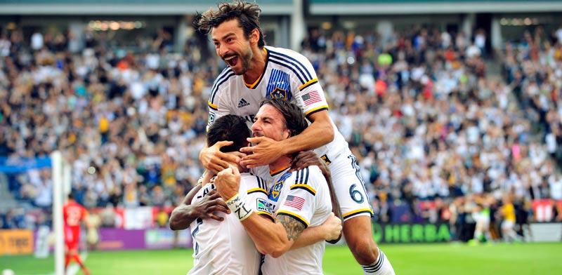 קבוצת ה-MLS לוס אנג'לס גלאקסי / צילום: רויטרס
