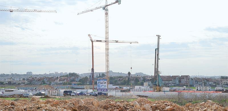 הבנייה בפרויקט החדש / צילום: תמר מצפי