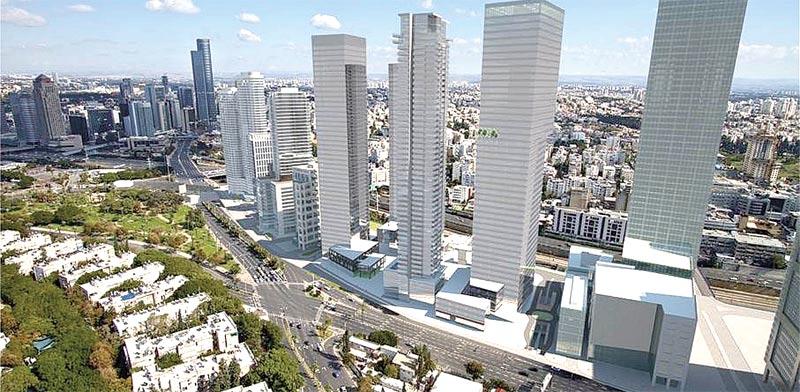 """בנייה ברחוב יגאל אלון / הדמיה: עיריית ת""""א"""