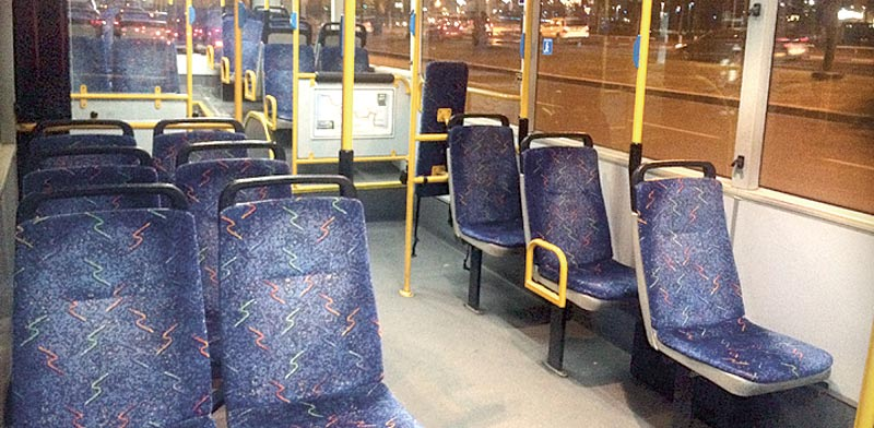 אוטובוסים ריקים / צילום: מירב מורן