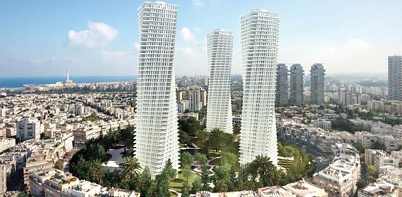 New high-rises in Tel Aviv's Kikar Medina