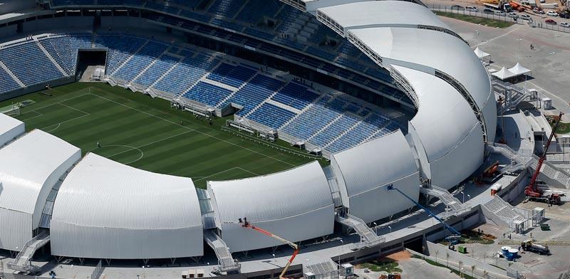 האצטדיון בעיר הברזילאית נטאל שאירח את משחקי מונדיאל 2014 / צלם: רויטרס