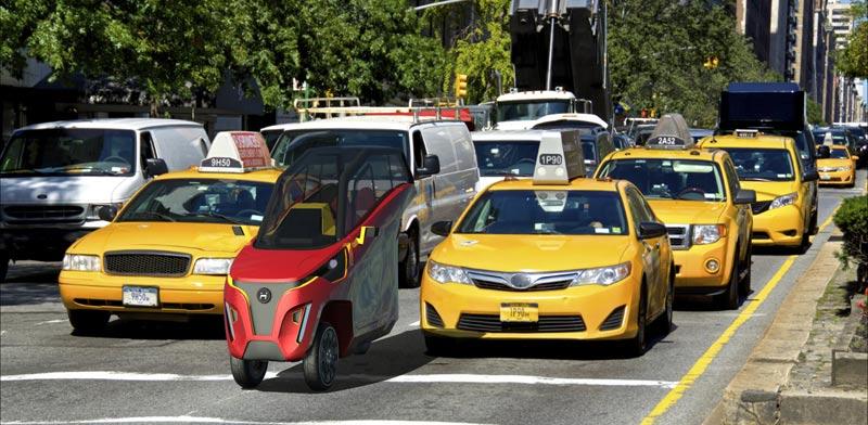 רכב חשמלי תלת גלגלי / צילום: עמוס בועז