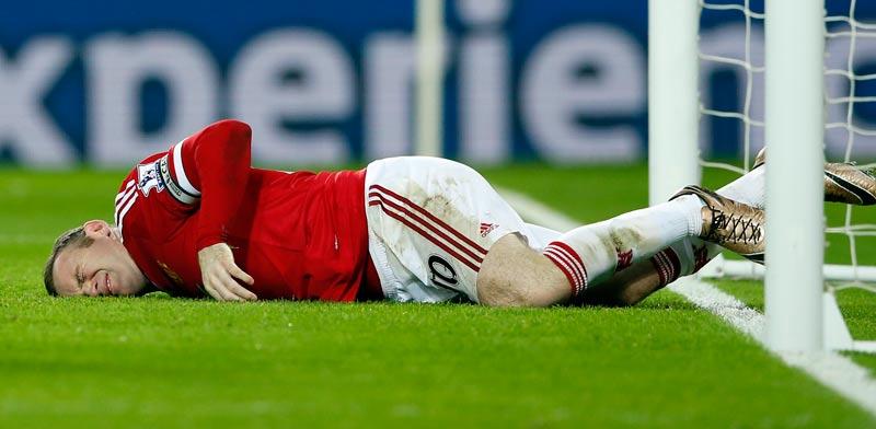 וויין רוני נפצע / צלם: רויטרס