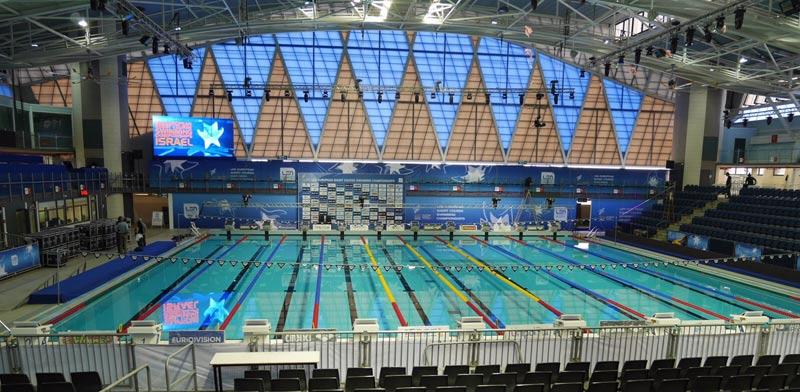 בריכת מכון וינגייט אליפות אירופה בשחייה 2015 / צילום: איגוד השחייה בישראל
