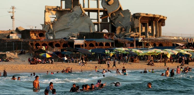 Gaza beach Photo: Reuters