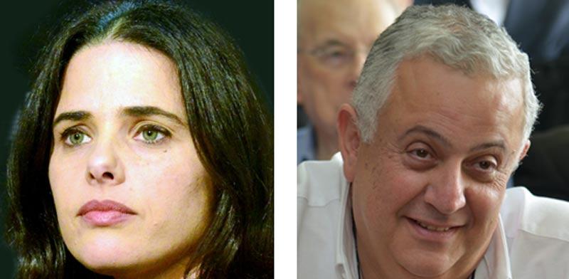 יוסף פריצקי ואיילת שקד / צילום: תמר מצפי