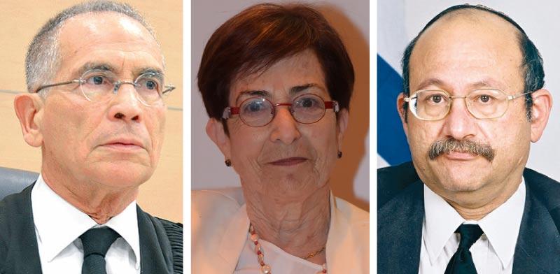 שנלר, ברלינר, שילה / צילומים: דוברות בתי המשפט, ארן דולב, תמר מצפי