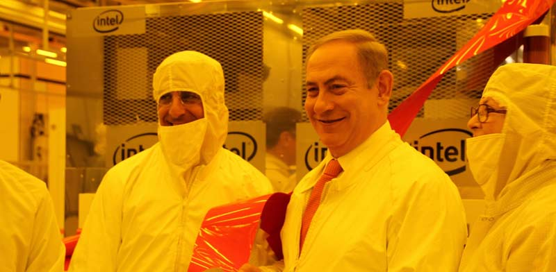 Netanyahu visits Intel Photo: PR