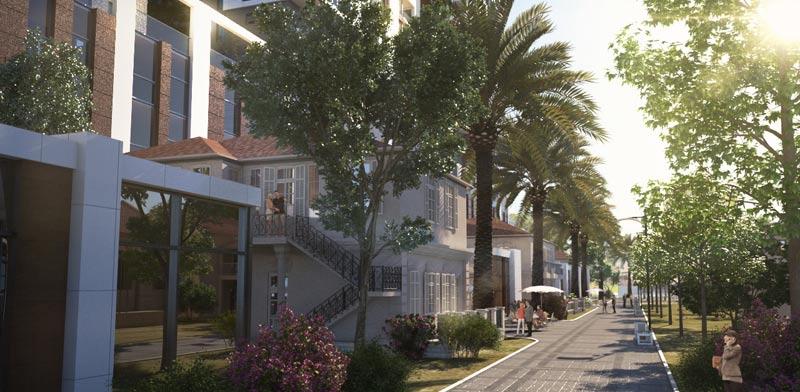 הדמיה של המבנים הטמפלרים בשרונה / מינהל מגורים ישראל