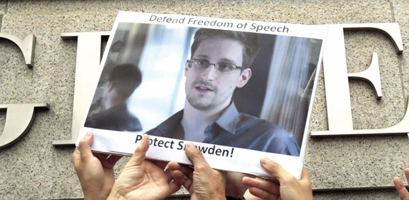הפגנת תמיכה באדוארד סנודן/ צילומים: רויטרס, דור מלכה
