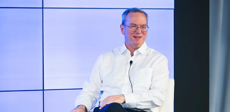 Eric Schmidt Photo: Tomer Poltine