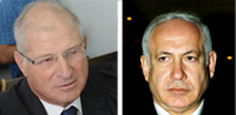 בנימין נתניהו ודוד שמרון / צילומים: איל יצהר