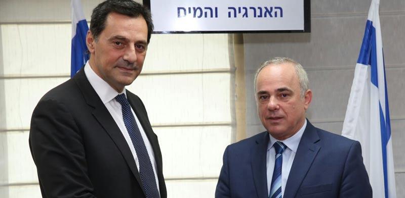 Steinitz and Energean chairman, photo: Yossi Zamir