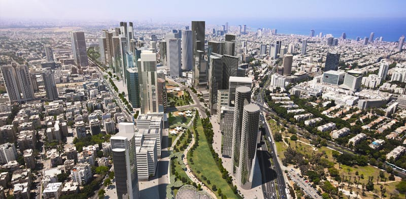 Ayalon Highway covering simulation, photo: Lerman Architects and Tel Aviv City Engineer's Department