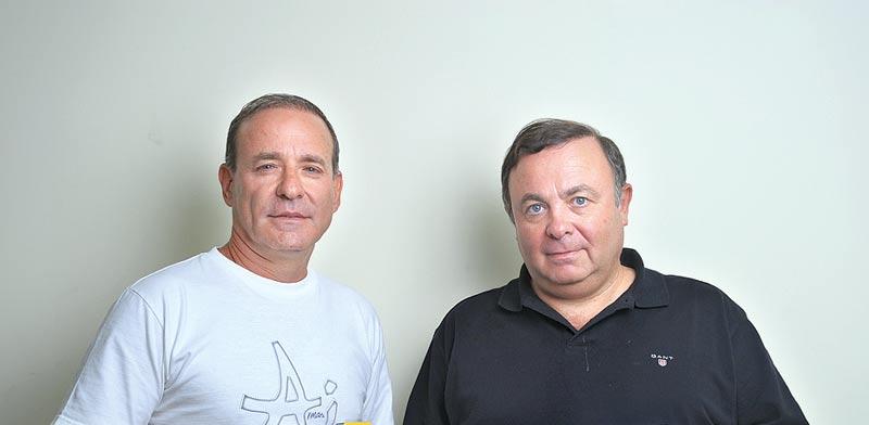 צבי (מימין) ויוסי ויליגר / צילום: איל יצהר