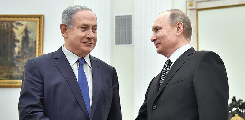Benjamin Netanyahu, Vladimir Putin  photo: Reuters