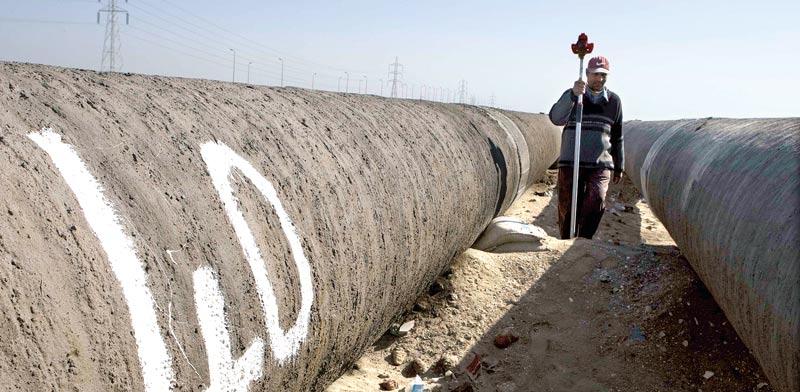 צינור גז במצרים / צילום: רויטרס