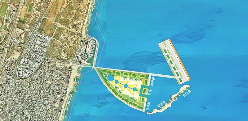 Planned islands Photo: Herzliya Municipality