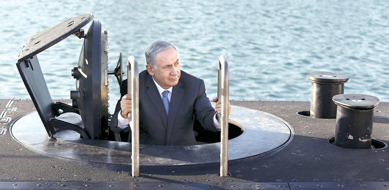 ראש הממשלה בנימין נתניהו בביקור בצוללת גרמנית / צילום: רויטרס