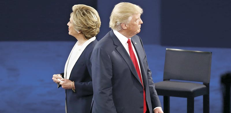 דונלד טראמפ והילארי קלינטון  / צילום: רויטרס