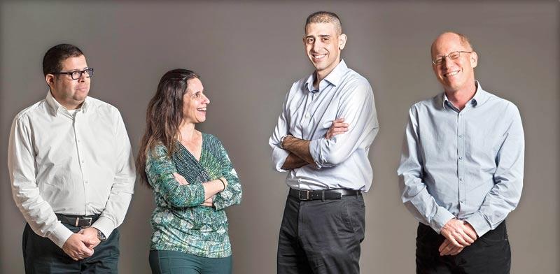 """פרופ' חריס, ד""""ר רותם, פרופ' רבין–מרגליות ופרופ' רבין / צילום: רמי זרנגר"""