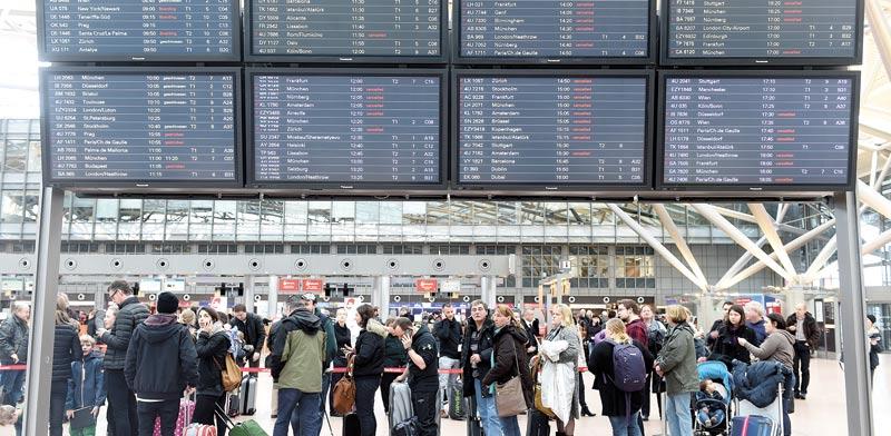 שדה התעופה של המבורג בגרמניה. מקווים להימנע ממלחמה פוליטית מלאה / צילום: רויטרס
