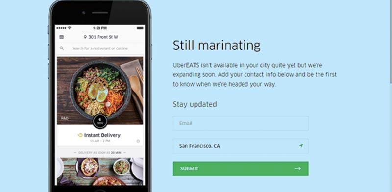"""השירות UberEats / צילום: יח""""צ"""