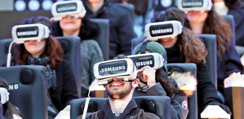 משקפי Gear VR של סמסונג / צילום: רויטרס