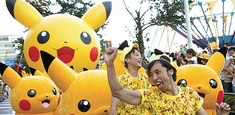 דמויות של פיקאצ'ו ביפן / צילום: רויטרס