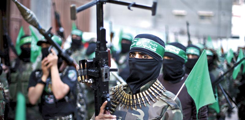 Hamas rally  photo: Reuters