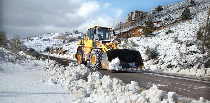 Snow on the Golan Heights Photo: Israel Roads Co