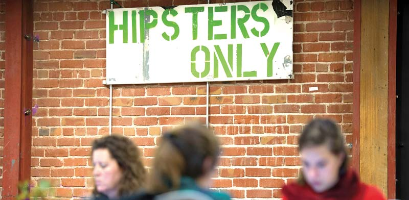 """כניסה """"להיפסטרים בלבד"""" / צילום: בלומברג"""
