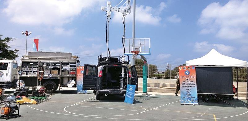 Antenna search system Photo: IDF Spokesman