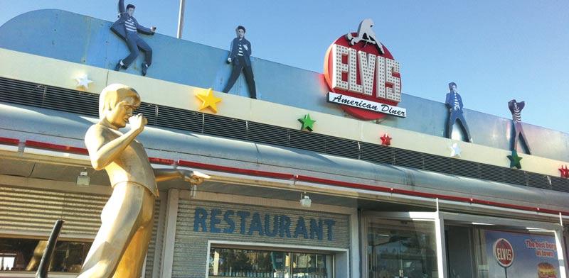 מסעדת אלביס בתחנת הדלק בנווה אילן / צילום: חיליק גורפינקל