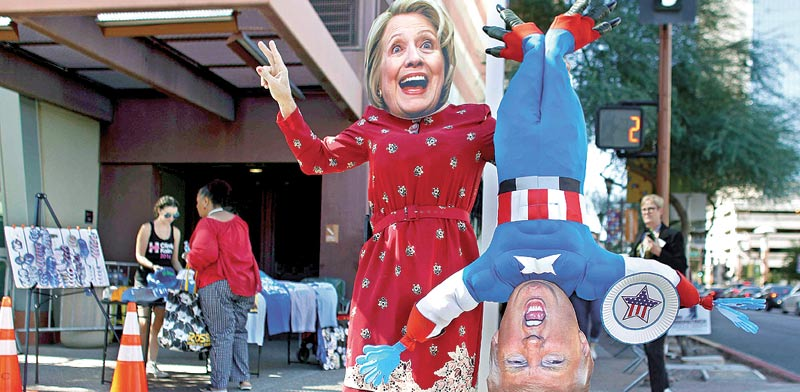 הילרי קלינטון ודונלד טראמפ/ צילום:רויטרס