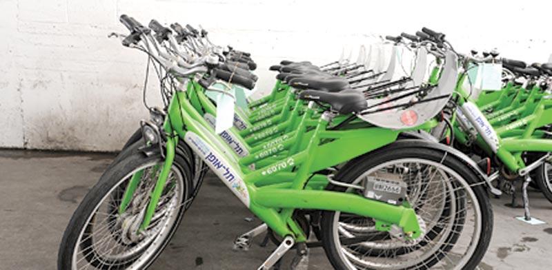 """אופניים של """"תל אופן"""" / צילום: תמר מצפי"""