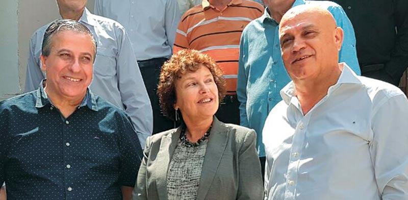 """עז א–דין סרסור, קרנית פלוג, חזי כאלו / צילום: יח""""צ"""