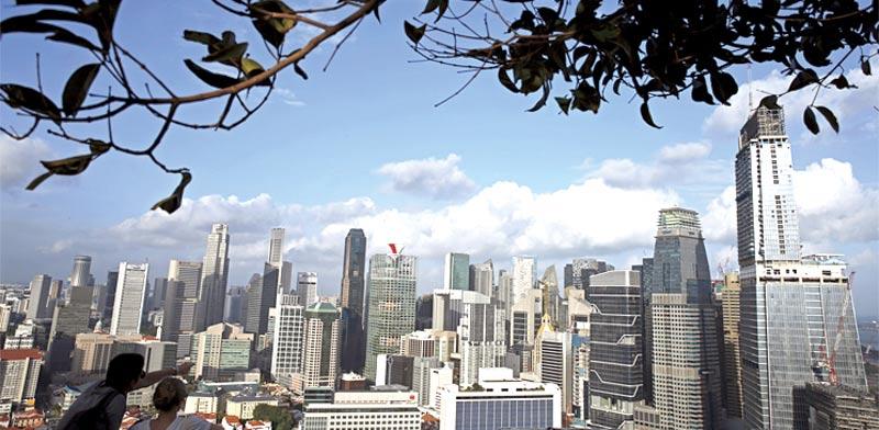 רובע העסקים של סינגפור, בשבוע שעבר / צילום: רויטרס