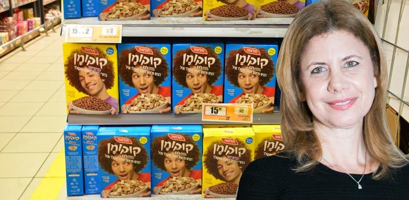המדף של מוצרי קורנפלקס, תלמה, ענת גבריאל / צילום: תמר מצפי, שלומי יוסף