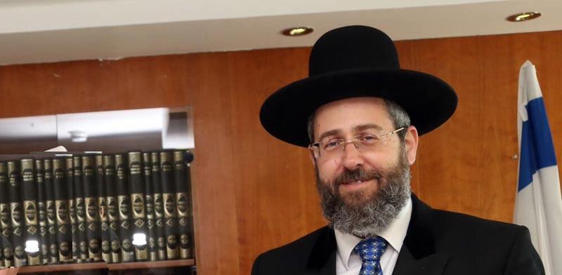 הרב דוד לאו, נשיא בית הדין הרבני הגדול /  צילום: סיון פרג'