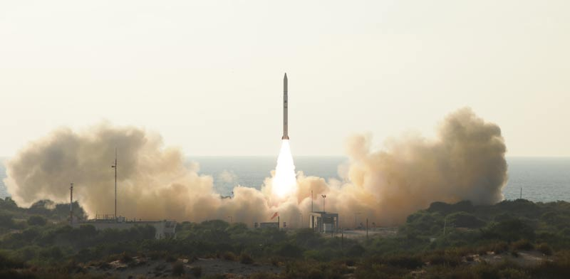Ofek 11 launch: Photo: Defense Ministry