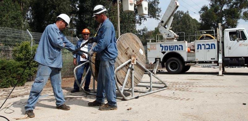 עובדי חברת החשמל / צילום:: יוסי וייס