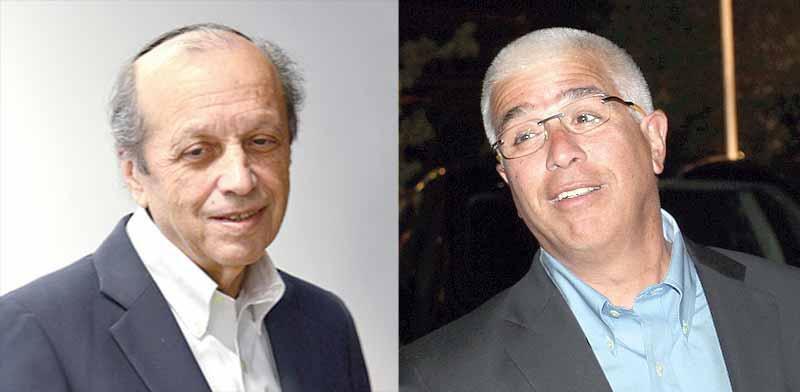 דוד עיני (מימין) ויוסף גרינפלד / צילום: תמר מצפי ואביב חופי