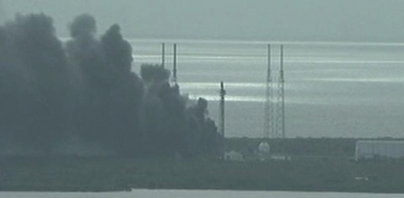 SpaceX fire Photo: Reuters