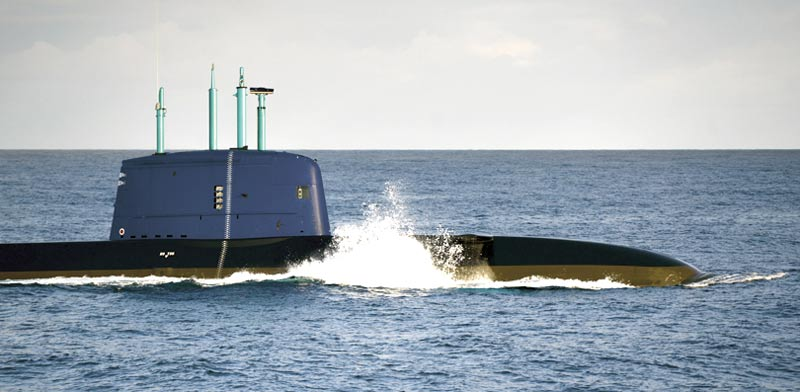 Israel navy submarine Photo: PR