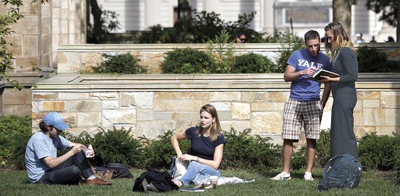 """סטודנטים בארה""""ב / צילום: רויטרס"""