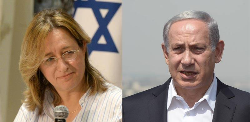 בנימין נתניהו ואילנה דיין / צילומים: מארק ניימן, לע''מ