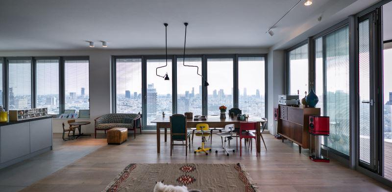 דירה במגדל פרישמן-דיזנגוף תל אביב. אדריכל: מורן פלמוני. צילום: איתי סיקולסקי