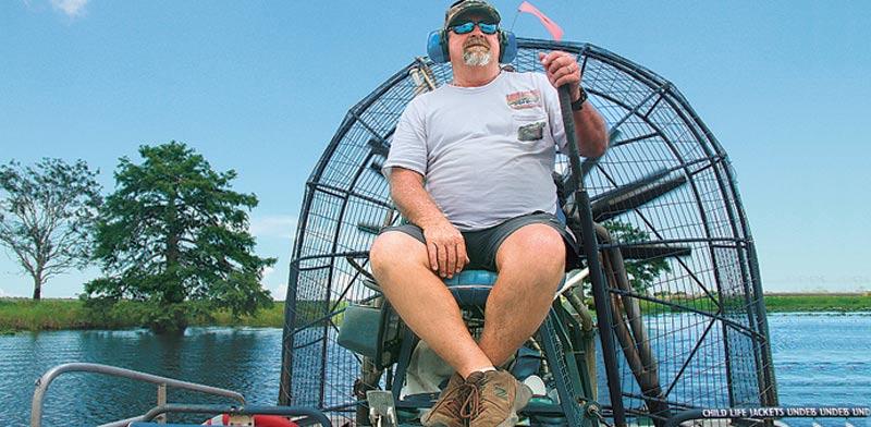 קפטן טוויסטר. שיט ב-airboat / צילום: אורלי גנוסר